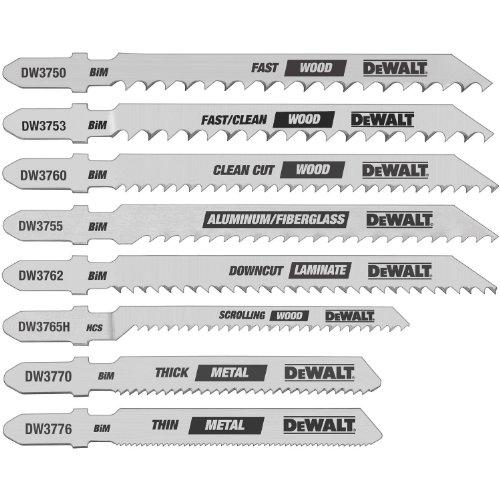 DEWALT Jigsaw Blades Set, T-Shank, 8-Piece (DW3791)