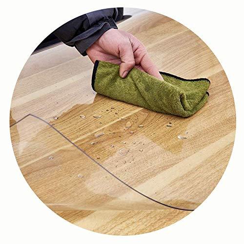 Leilims Bodenschutzmatte PVC Transparent Anti-Rutsch-Waterproof-Yoga-Matten Bürostuhl Couchtisch Möbel Anti-Kratz-Teppich (Color : 1.6mm, Size : 60x60cm)