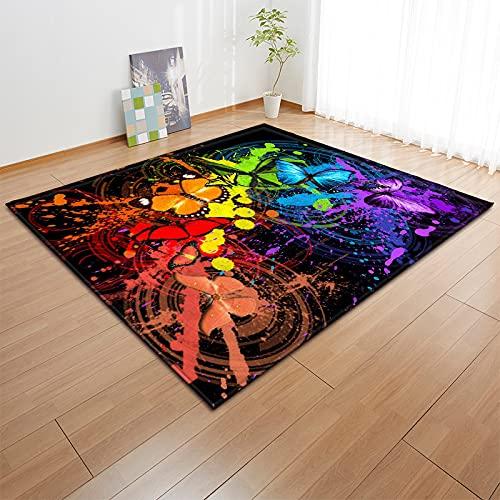 YDyun tappeti Antiscivolo Chic con Motivi Tappeto Il Grande Tappeto Geometrico del Soggiorno è Adatto per Lo zerbino Antiscivolo della Camera da Letto