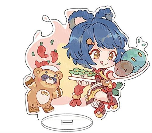 JKLI Anime Personaje Acrílico Soporte Modelo Tablero Escritorio Decoración Soporte Llavero Ventilador Regalo