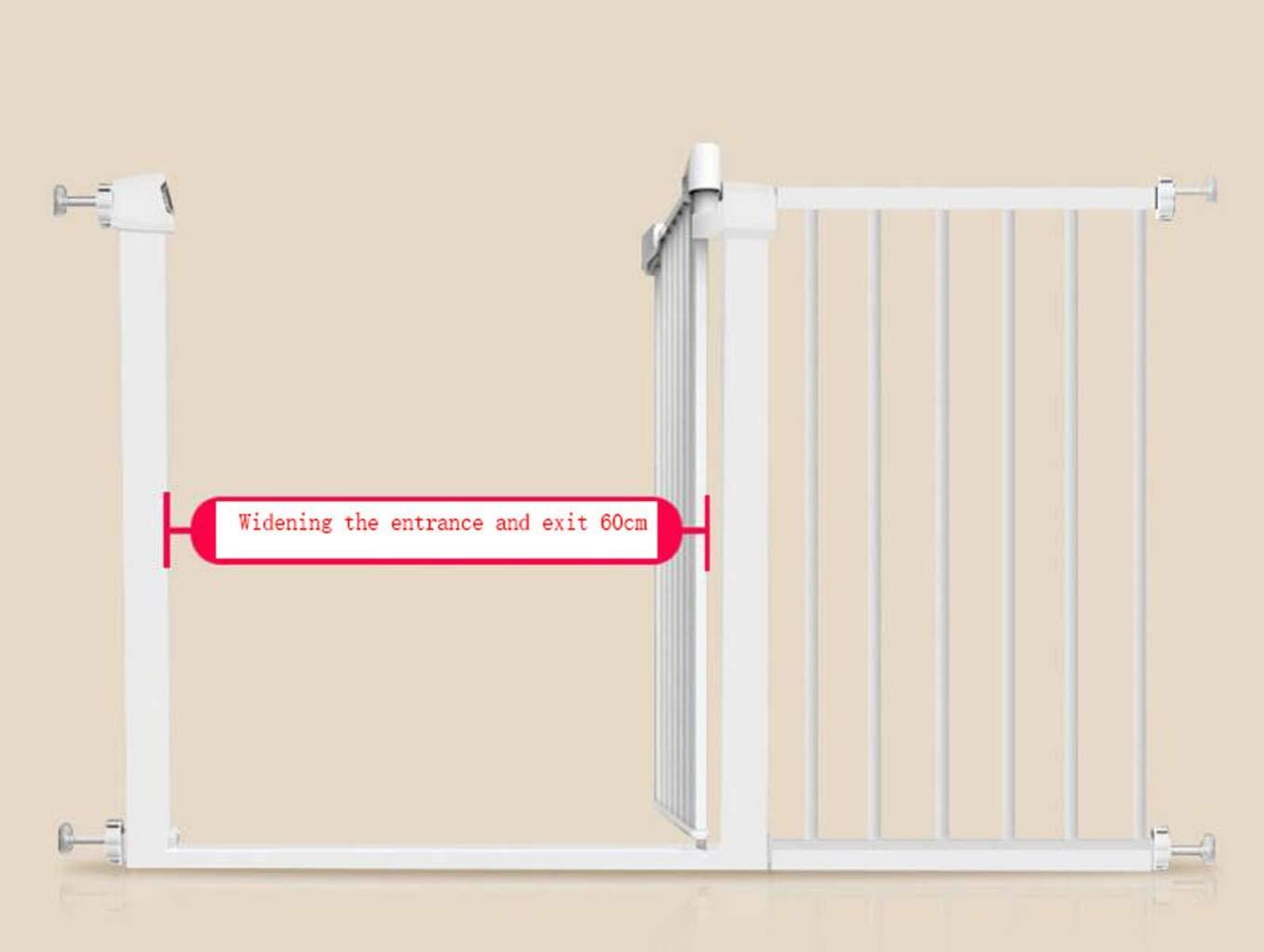 Puerta de seguridad para bebés, reja de aislamiento para mascotas, fácil de abrir, puerta de paso súper alto y puerta para mascotas, ancho de instalación de 75-80cm, incluido el patio de la