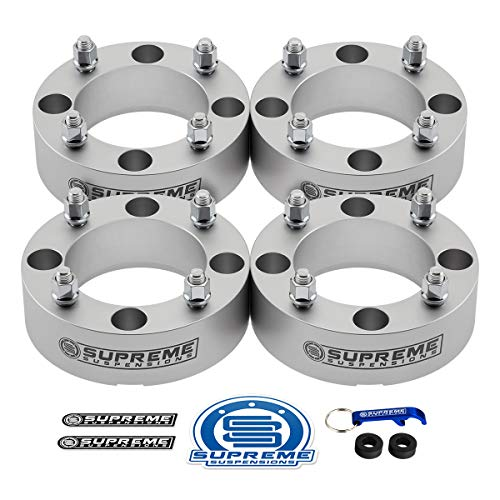 Supreme Suspensions - 4pc Set of 2 Wheel Spacers for CAN-AM Outlander 400 + 500 + 650 + 800   4x137mm Bolt Pattern M10x1.25 Studs & 110mm Center Bore ATV Wheel Spacer [Silver]