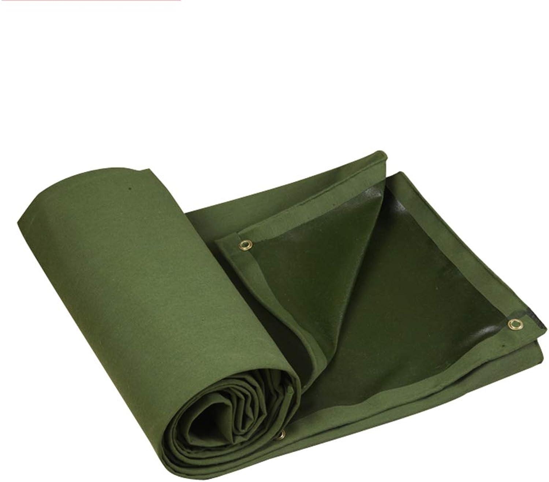 M-Y-L AbdeckplanePlane Heavy Duty Canvas - Grünes Planenblatt - für Garten, Outdoor, Fabrik, mit sen 650 Gramm Quadrat,4  6m
