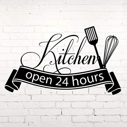Venta caliente pegatinas de pared de cocina Horas abiertas Vinilo Cocina Decoración del hogar Pegatinas de azulejos de pared de cocina