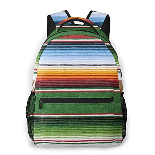 LUDOAN Mochila de viaje para computadora portátil,alfombra de manta mexicana,mochila de día antirrobo resistente al agua para empresas,delgada y duradera