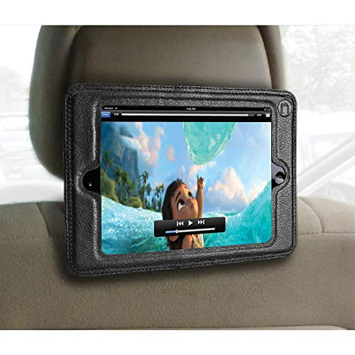 "Inndise iPad Mini Headrest Mount Holder for Car-Fits 7.9"", Mini 1,Mini 2,Mini 3,Mini 4.Keeps iPad in Car Secure Within A Strong PU Leather Case. Safe Car Mount for Kids"