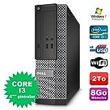 PC Dell Optiplex 3020 SFF Core I3-4130 3.4GHz 8Go Disque 2To DVD Wifi W7...