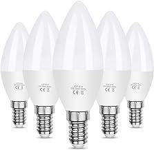 Vicloon E14 LED Kaarslamp, 5,5W 550 Lumen 6500K Koud Witte LED Kaarslamp, C37 LED Brine Vervangt 40W Halogeenlamp, AC 220-...