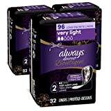 Always Discreet Boutique Incontinence Liners, Very Light Absorbency, Long Length,32 Count (Pack of 3)