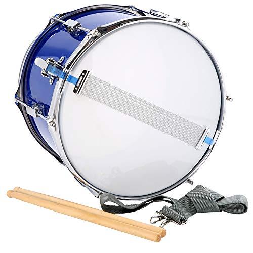 Ljrhu High Barrel Kleine Snare Drum 14 Inch Snare Drum Muzikaal Instrumentaal Professionele Snare Drum, Grijze Trommel Riem, 35CM Trommel Stick