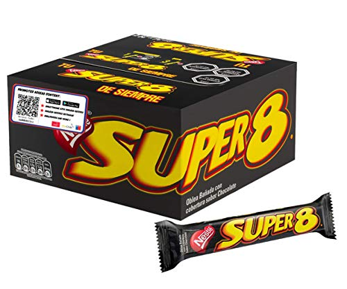 Super 8 by Nestle (24 Units Pack) Wafer Covered in Chocolate Classic Snack From Chile. Special Content Edition