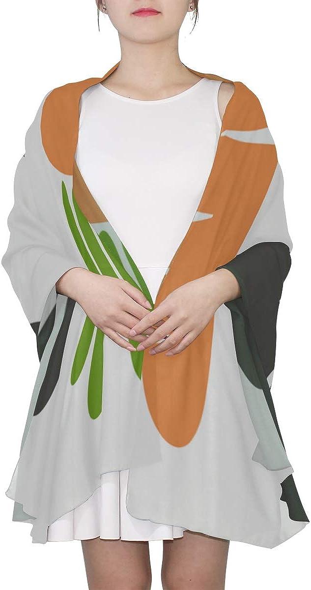 Mens Scarf Kawaii Cool Carrot Health Vegetables Spring Scarf Lightweight Kids Shawl Wrap Lightweight Print Scarves Shawl Wrap Fashion Scarf Lightweight