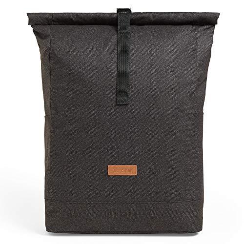 VonShef 4-Personen Picknick-Rrucksack mit Rollverschluss - Große Picknicktasche mit Geschirrset - Picknickset aus Segeltuch mit isoliertem Kühlfach