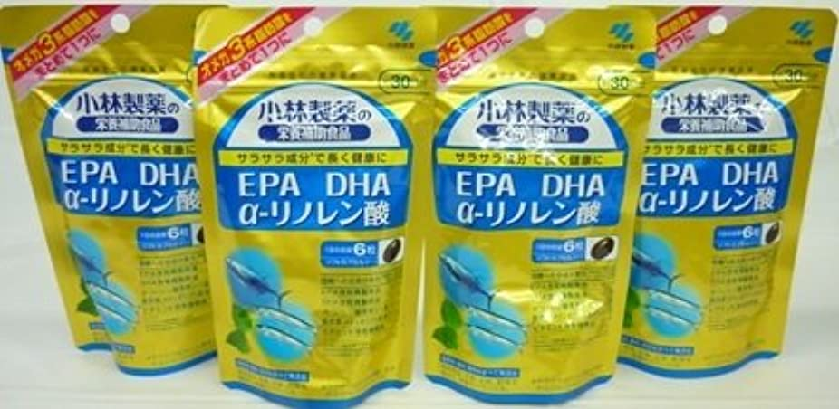 刺します時砦<お得な4個パック>小林製薬の栄養補助食品 DHA EPA α-リノレン酸 180粒入り×4個