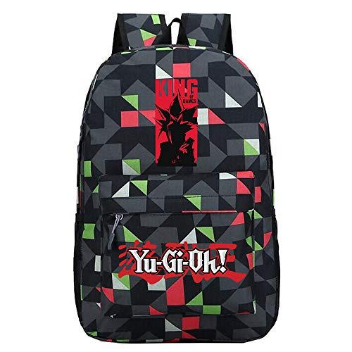 Yu-Gi-Oh Mochila Deportiva Mochila Escolar Mochila de Lona Bolsa de Viaje Mochila Mochila Escolar Impresa Unisex (Color : Black10, Size : 30 X 13 X 43cm)