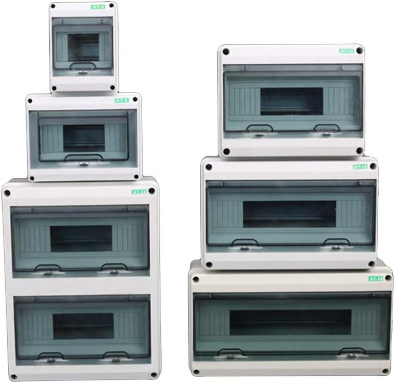 24Ways Caja de distribuci/ón el/éctrica Caja de Cables de conexi/ón a Prueba de Agua Gris Blanco ruiruiNIE 5//8//12//15//18