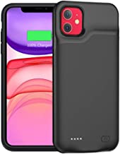 Battery Case for iPhone 11, Upgraded 6000mAh Portable Protective Charging Case Compatible with iPhone 11 (6.1 inch) Rechargeable Extended Battery Charger Case (Black)