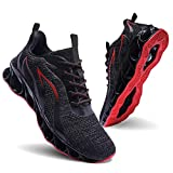 Men Athletic Shoes Black Red Mesh Blade Running Walking Sneakers 10.5