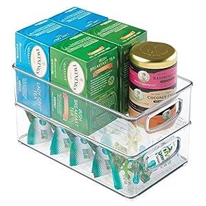 """InterDesign Home Kitchen Organizer Bin for Pantry, Refrigerator, Freezer & Storage Cabinet, 10"""" x 3"""" x 6"""", Clear"""