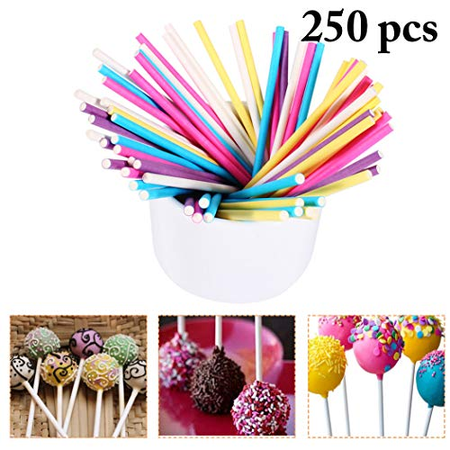 JUSTDOLIFE Lollipop Stick Food Grade Multipurpose Cake Pop Stick Eén maat multicolor