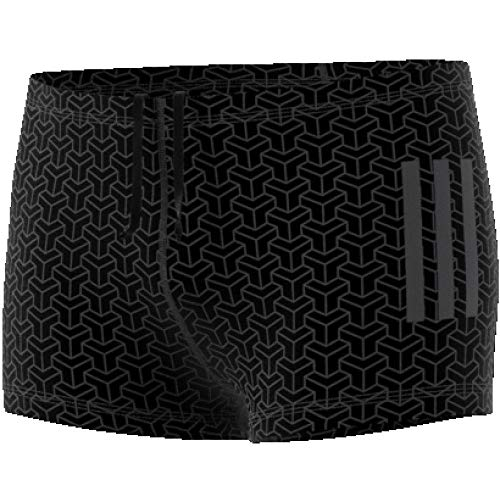 adidas Herren Allover Graphic Boxer-Badehose, Black/Carbon, XS
