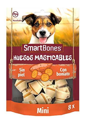 SmartBones Boniato Huesos masticables Mini para perros, 8 piezas