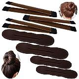 YuCool Lot de 3 mini chignons magiques pour chignon 2 petits, 2 grands, accessoires pour cheveux Marron