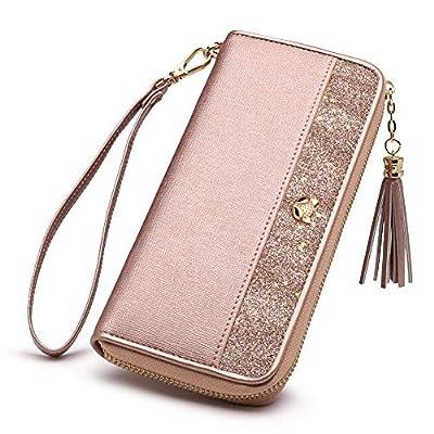 FOXER Women Leather Wallet Bifold Wallet Clutch Wallet with Wristlet