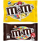M&M'S Chocolate Candy Combo - Chocolate + Peanut Sugar Shell - 2 X 45Gms