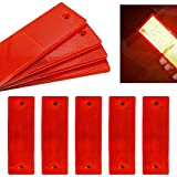 smseace 15pcs red Reflector Sticker Waterproof Plastics Material Stick-on/Screw-Holes Used for Truck,RVs,Motorcycle,Cars,Bus Reflective Tape