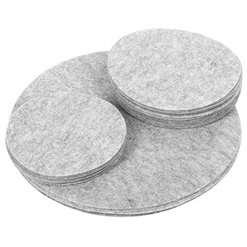 Almohadillas divisorias de Platos Plato de Cena Protección de Fieltro Vidrio Cerámica Separadores de Utensilios de Cocina(grey2)
