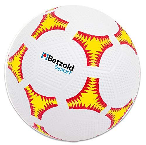 Betzold 34170 - Sport Schulhof Fußball, für Rasen und Teer, widerstandsfähige Gummihülle, äußerst robust und abwaschbar