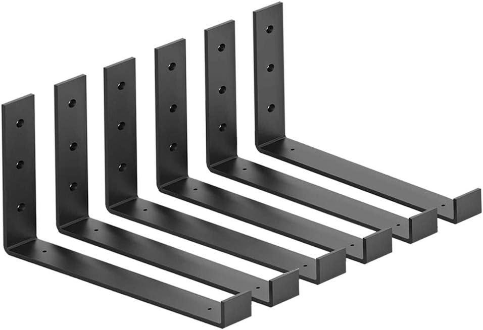 Shelf Brackets 10 Inch Heavy Duty 70% OFF Free shipping Outlet Mou Wall Floating Black Metal