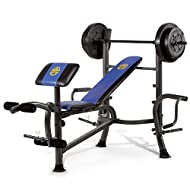 Purpose: Versatile, solid starter bench with 35 kg set, ideal for your first home gym; adjustable: 2 x inclines and flat positions 2 x 11.3 kg vinyl plates, 2 x 6.8 kg vinyl plates, 1 x 5 feet standard hollow barbell, 5 x clips; integrated butterfly ...