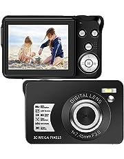 デジタルカメラ デジカメ Vloggingカメラ コンパクト 2.7インチ TFT LCD ポータブル3000万画素数 フィルライト 携帯便利 8Xデジタルズーム 連続撮影 自撮り 日本語説明書