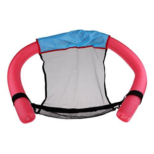 perfk Erwachsene Schwimmnudel mit Netz Wassersitz Poolnudel Pool Nudel Pool Nudel Swimming - Rot, M