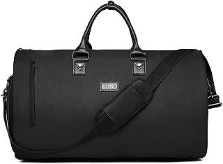 Kono Sporttasche Herren Reisetasche Weekender mit Schuhfach Große Wasserdicht Fitnesstasche Trainingstasche Gym Sport Tasche Handgepäck für Männer und Frauen