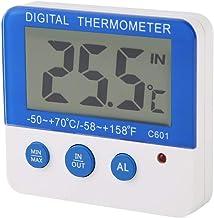 Termómetro higrómetro, C601 Higrómetro digital Termómetro interior para exteriores Monitor de humedad con alarma de temperatura