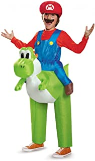 MyPartyShirt Mario Riding Yoshi Inflatable Child Costume