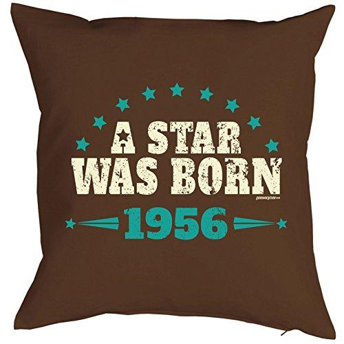 Goodman Design ® kussensloop A Star was Born 1956 geschenk voor 64 verjaardag cadeau-idee voor verjaardag kussen voor 64 jäirge