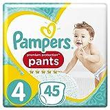 Pampers Premium Protection, 45couches, lot de 2(2x 45pièces) pour bébé, taille 4 (9-15 kg)