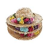 CUTICATE Puppenkleidung Hut Mütze mit Blumen Strohhut Für 1/4 BJD Dolls