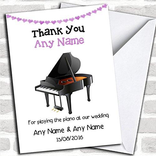 Dank u voor het spelen van Piano op onze bruiloft dank kaart met envelop, kan volledig worden gepersonaliseerd, snel en gratis verzonden