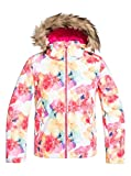 Roxy ERGTJ03075 Chaqueta, Niñas, Bright White Sunshine Flowers, 14/XL