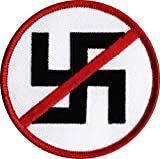 NO NAZI Embroidered Patch 3' Dia.