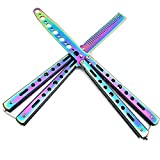 Excelley Butterfly Knife and Comb Knife Trainer,Stainless Steel Butterfly Training Knife for Beginner - Practice Knives Trainer Tool