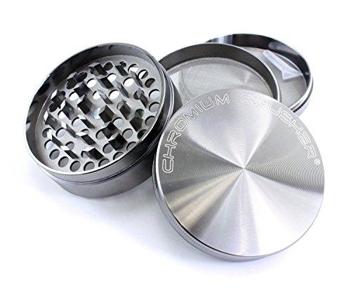 Chromium Crusher 3 Inch 4 Piece Tobacco Spice Herb Grinder - Gun Metal