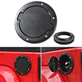 Gas Cap Fuel Door Gas Tank Cover for Jeep Wrangler JK & Unlimited Sport Rubicon Sahara 2007-2018