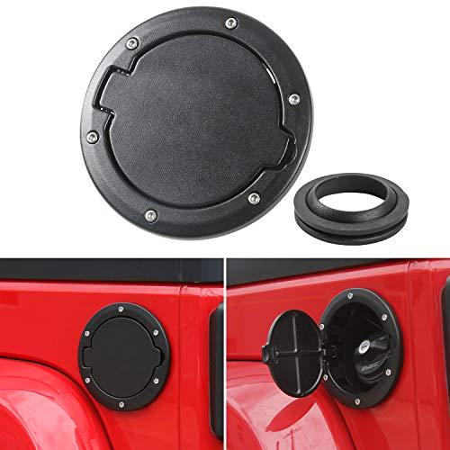 Gas Cap Fuel Door Gas Tank Cover for Jeep Wrangler JK & Unlimited Sport Rubicon Sahara 2007-2018