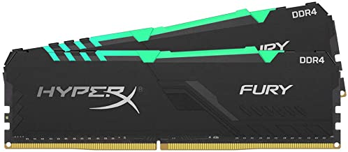 HyperX Fury 16GB 3200MHz DDR4 CL16 DIMM (Kit of 2) 1Rx8 RGB XMP Desktop Memory HX432C16FB3AK2/16
